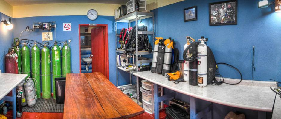 ProTec Dive Center dedicated Rebreather room